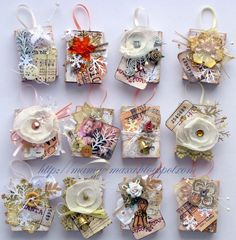 Small gift boxes made from matchboxes