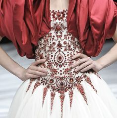 Alexander McQueen dress with Rose sleeves