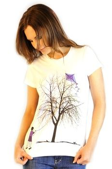 Ladies Kite Flying T-Shirt from Thomas.T Thomas T | Blue Caravan Ethical Design Market