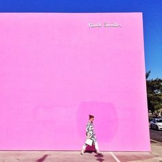 That pink wall.