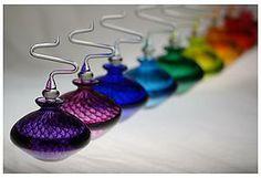 Fishnet patterned perfume bottles