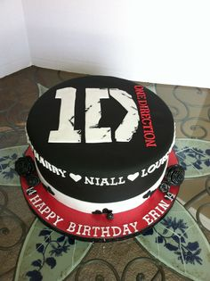 One direction cake I made for a friend- cake design inspired by Sharon at mrs t and cakes