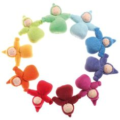 Grimm's Rainbow of Little Waldorf Dolls in Organic Cotton, Set of 10 D