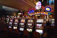 A slot machine that takes quarters. Image was taken in a Casino in Las Vegas.