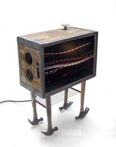 Milk-Crate Stereo / End Table