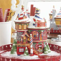 "Department 56: Products - ""North Pole Beard Trimmers"" - View Lighted Buildings"