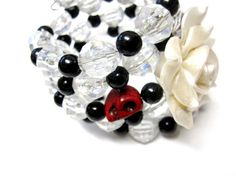 Day of the Dead Bracelet Gothic Lolita Sugar by sweetie2sweetie, $21.99