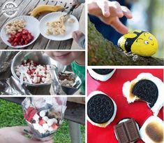 kid activities, camping foods, oreo smore, famili, camp food, kid camping, activities for kids camping