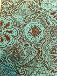 pattern, color combos, doodl, textil, print