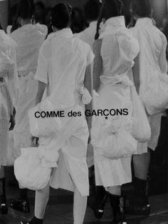 des garçon, white fashion, fashion ad, comme des garcons ads, fashion photography, campaign, cdg, origami fashion, comm des