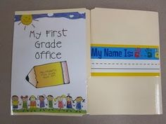 First Grade Office... I LOVE this idea!