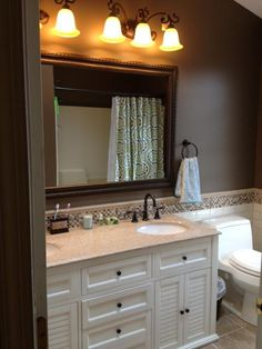 Paint colors on pinterest behr benjamin moore and paint for Mocha bathroom ideas
