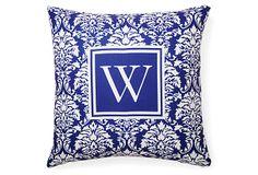 Monogram 20x20 Pillow, Purple on OneKingsLane.com