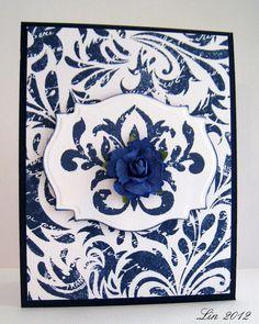Blue Elegance Card by Lin