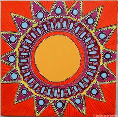 Mandala Art Sunshine Inspirational  by biffybeans
