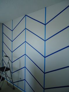 How To: Chevron Wall I'd love to do this for the nursery on one wall!