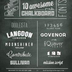 10 Free Chalkboard Fonts - For all your projects!