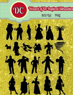 wizard of oz silhouettes | Wizard of Oz Instant Download Inspired by ... | Party Ideas - Wizard ...