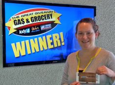 Angela Weathers won $100 in The Great Gas & Grocery Giveaway from KXLY4, Divine's & Yokes.