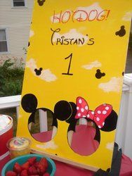 Cute Ideas mickey mouse, birthday parties, birthday minni, 2nd birthday, 1st birthdays, bean bags, minnie mouse party bag, minni mous, birthday ideas