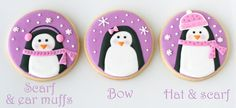 Glorious Treats » Pink and Purple Penguin Cookies