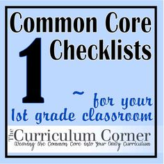 core checklist, common core standards, core 1st
