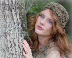 Lace Turban Hat Boho Gypsy Cloche Beanie by GreenTrunkDesigns