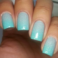 Lovely gradient using CG sea spray, aquadelic, and of course, fairy dust!