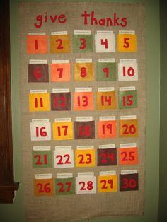 Give Thanks Thanksgiving Calendar - DIY create for kids!