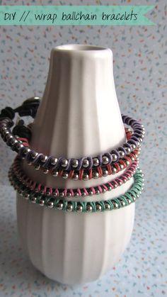 wrap ball+chain bracelets  #ecrafty @ecrafty #ballchains