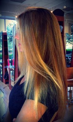 long hair blonde highlights