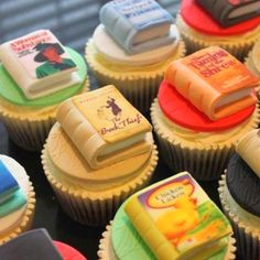 Book cupcakes! Do you ever host a book club? These little treats would make everyone's day!