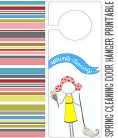 Spring cleaning door hanger and checklist. Free printable. #springintothedream