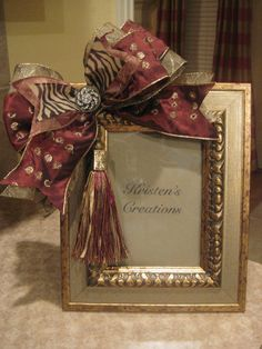pretty picture frame with bow...just not the tassel