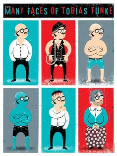 """The Many Faces of Tobias Funke"" Arrested Development Print"