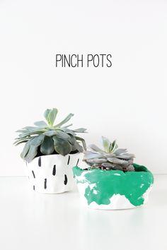 DIY Pinch Pots