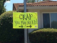 Yard sale anyone?