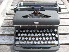 Typewriters. Something about hearing the keys punch bellow my fingers and the bell that rings at the end of a line.