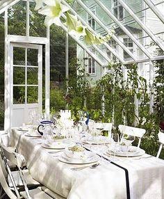 Greenhouse dining.