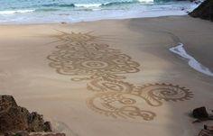 Sand Paintings on the beach.