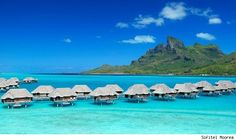 Sofitel Moorea Tahiti Outwater Bungalow. Oh yes. Chris and I stayed here!!!! Honeymoon 2000, very last hut!! Stunning!