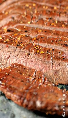 Mojo Marinated Flank Steak with Grilled Onions | Recipe