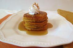 Pumpkin Pancakes - Light, fluffy, healthy pumpkin pancakes that tastes like pumpkin pie.