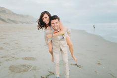 cute beach wedding portrait, photo by Matthew Morgan http://ruffledblog.com/southwestern-san-clemente-wedding #beachweddings