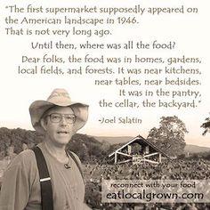 Eat local grown