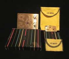 Vintage Cigarette Case Vintage Lighter Elgin American Cigarette Case & Lighter Set Boxed Set Working Lighter