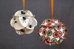 Esferas de papel para la navidad.  http://navidad.es/wp-content/uploads/2011/10/esferas-papel-navidad.jpg