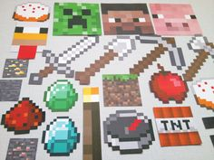 Printable 26pc Minecraft Photo Booth Props - Minecraft Birthday - Minecraft Party on Etsy, $13.00