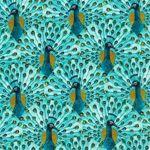 Peacocks Alegria Fabric by Cloud 9 Fabrics