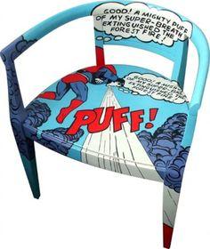 Pop art muebles on pinterest roy lichtenstein chairs for Muebles pop art